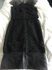 BNWOT PORTMANS Black Lace Set Skirt + Top Size 6