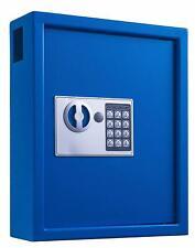 AdirOffice Blue Steel 40 Key Cabinet Digital Lock House Auto Key Storage Case