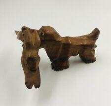 New listing Vintage Hickok Carved Wood Dog w Rabbit Bottle Opener/corkscrew