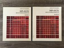 HP-41CX Benutzerhandbuch, Band 1 & 2