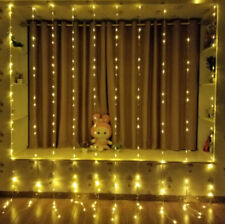 Xmas Christmas Waterfall Curtain Lights 3*3M 320LED Icicle String Light WarmWhit