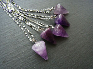 Beads Pendant Necklace Wholesale 20ps Amethyst carved Gemstone Jewelry FREE