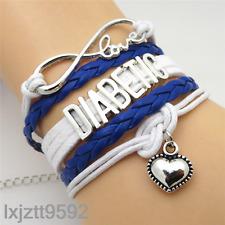 Infinity Love heart DIABETIC Bracelet charms bracelets jewelry friendship gifts!