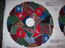 Christmas Victorian Crazy Quilt Wreath Fabric Panel V.I.P Cranston Print Works