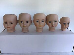 Porcelain Dolls Heads X 5 Job Lot