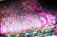 CASHMERE BLANKET WOOL BED SPREAD SOFA AFGHAN SHEET MAGENTA THROW INDIAN PINK NEW
