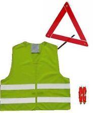 rouge protection urgence TRIANGLE DE SIGNALISATION + Hi Viz Vis Gilet EU Voyage