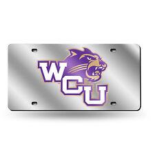 Western Carolina Catamounts NCAA Mirrored Laser Cut License Plate Laser Tag