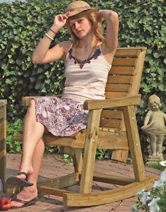 Schaukelstuhl Tirol gefertigt aus imprägniertem Kiefernholz H 96 x B 58 cm