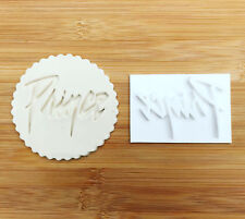 embossing for cupcake and cake - stamps sugarpaste Prince