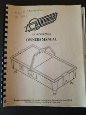 Original Dynamo Air Hockey Table Owners Manual
