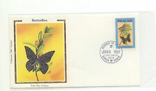Palau FDC Colorano Silk Butterflies Insects  1987  36-142