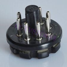 6pc Bakelite Tube Socket 8Pin Plug Base Testing EL34 6SN7 KT88 6L6 6P3P 6V6 6L6