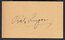Bela Lugosi as Dracula Autograph Reprint On Genuine 1930s 3x5 Card