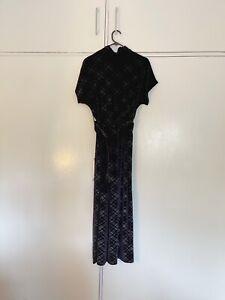Brand New Zara Black Velvet Jumpsuit Size S