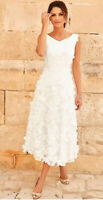 Daisy Applique Floral Bridal Prom Dress Wedding Kaleidoscope New Size 20 £299