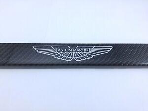 Aston Martin Silver Logo Carbon Fiber license Plate Frame 2x2 Gloss