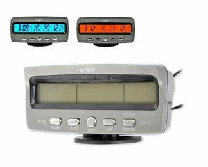 12V Auto KFZ LCD Digitaluhr Thermometer Temperatur Spannungsmesser Monitor DE