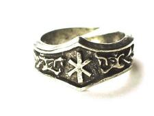 JERA Viking Dragon Head Rune Ring, Harvest, reward, Letter 'J'. Adjustable