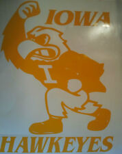 New IOWA HAWKEYES CORNHOLE DECALS - 2 Large DECALS -Window Decals