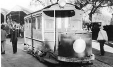 Tram RP postcard size photo card Highfield Depot Southampton 1940's