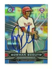 2015 BOWMAN CHROME SCOUTS J.P. CRAWFORD AUTOGRAPH CARD #BSI-JC SIGNED IN PERSON