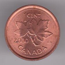 Canada 1 CENTESIMI 2000 Rame Placcato Zinco Coin-Maple Leaf