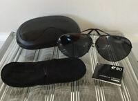 Porsche Design 5721 By Carrera, Black Vintage Sunglasses w/ Spare Lenses & Case