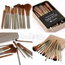 12Pc Professionnel Maquillage Pinceaux Kit Brosse Or Cosmétiques Set de Trousse