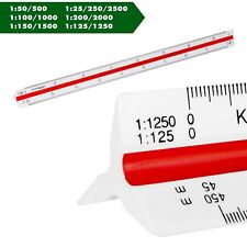 Maßstab dreieckig Lineal Dreikant Skalierung Scale Ruler Architekt Maschinenbau
