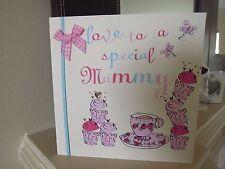 Qualità Amore a uno speciale Tè Mummia carta torte Sparkle Compleanno Festa della Mamma mamma