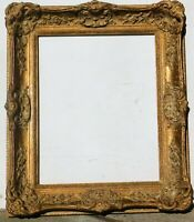 Vintage gold leaf wood frame fits 16 x 20 painting, outer 24 x 28