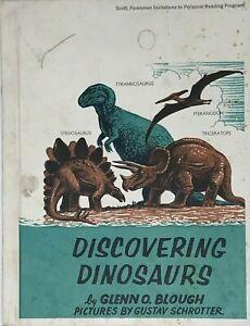 Vintage 1960 Discovering Dinosaurs Glenn O. Blough Gustav Shrotter McGraw-Hill