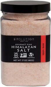 Fine Grind Gourmet Pink Himalayan Salt by EVOLUTION SALT, 17 oz jar