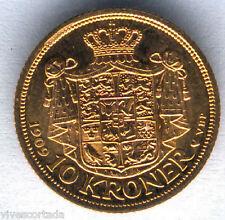 Danimarca 10 Corone 1909 oro @ Senza Circolare @