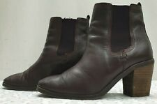 MARKS & SPENCER ladies womens brown elasticated ankle boots Size UK 6.5 EU 40