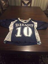 Farragut Blue and Silver #10 LAX Jersey Men's Medium