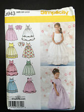 Simplicity #3943 Child's Special Occasion Dress and Bolero - Size 3-6