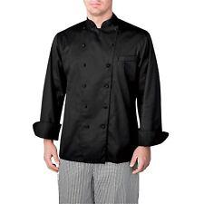 New Chefwear Men Executive Royal Cotton Chef Coat Black
