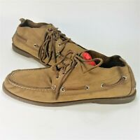 Sperry Top Sider Mens Boots Moccasin Chukka Leather Brown Size 11
