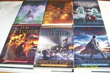 Codex Alera by Jim Butcher, 6 vol., 6 Signed 1st editions 1st printings,H/C, D/J