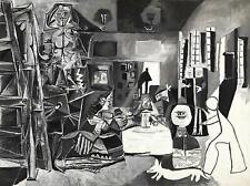 Las Meninas Pablo Picasso Poster Canvas Picture Art Print Premium Quality