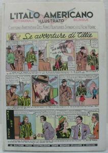 """Cartonato fumetti """"L'Italo Americano bilingue"""" vol 1 Ottimo 1946-1947 NERBINI"""