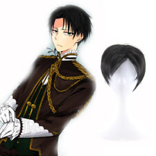 Japanese Anime Attack On Titan Levi Rivaille Short Synthetic Hair Cosplay Wigs