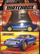 MATCHBOX Best Of 2017 Lamborghini Miura P400 Real Riders Rubber Tires NIP DC 164