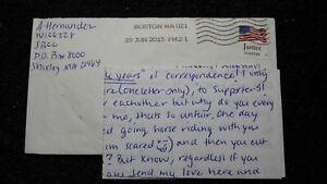 2015 Aaron Hernandez Handwritten Authentic Signed Prison Jail Letter Patriots