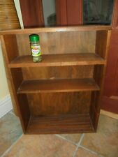 Small hardwood bookcase, display shelves, home made, CDs games