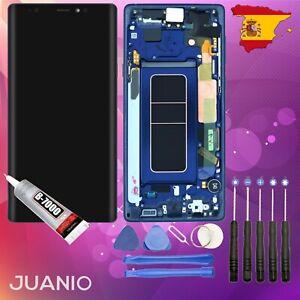 "Vidrio táctil + LCD en marco para Samsung Galaxy Note 9 SM-N960 6,4"" Azul"