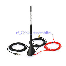 DAB + FM/AM Car Radio Antenna Universal Aerial with Amplifier Roof Mount SMB RA