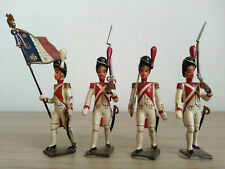 4 anciens SOLDATS DE PLOMB CBG MIGNOT Grenadiers Régiment Hollandais au Défilé
